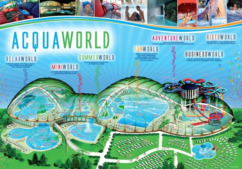 Acquaworld concorezzo parco acquatico e spa per - Piscina al coperto con scivoli ...