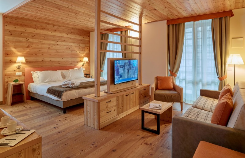 Suite Deluxe del resort Alagna in Piemonte